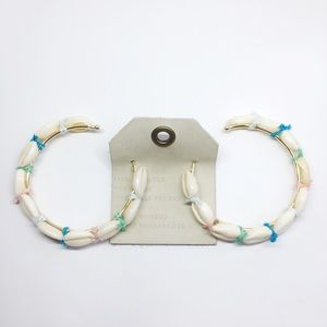 NWT Anthropologie shell hoop earrings